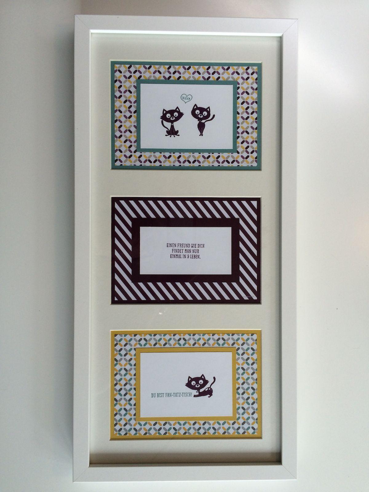 Drei Bilder ein Rahmen, Stempelset Poesie auf vier Pfoten ...