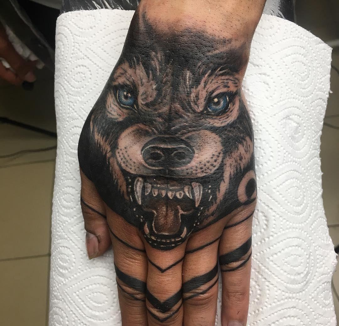 Creative Wolf Mandala Tattoo C Tattoo Artist Kachalova Wolf Tattoo Design Tattoo Themes Hand Tattoos