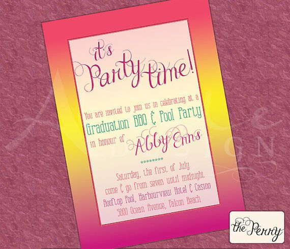 The Perry printable invitation for events  by Aldale Design, $15.00