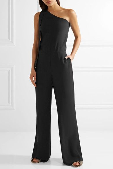 b724dbd339d6 Theory - Eilidh One-shoulder Crepe Jumpsuit - Black
