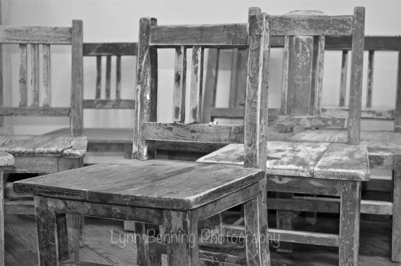 Old School Chairs by LBENNINGPHOTO on Etsy, $25.00