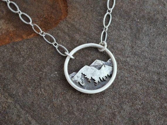 alpine dreamer mountain pines circle pendant everyday. Black Bedroom Furniture Sets. Home Design Ideas