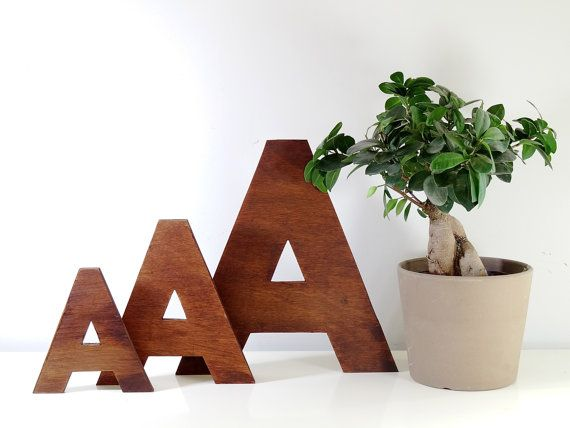 Wooden letters // Decorative letters for Wall Decor 6 - 16 inch ...