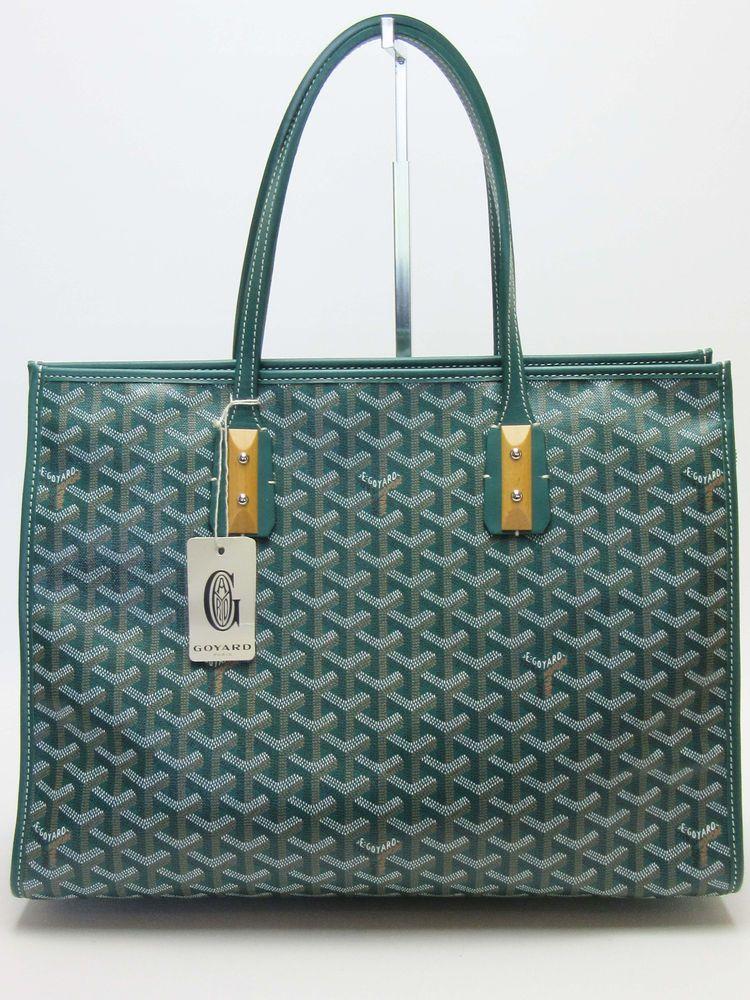 1c26830a Auth GOYARD Next of Kin Green MarquisesTote Bag, Handbag, Shoulder Bag NWT # Goyard #TotesShoppers