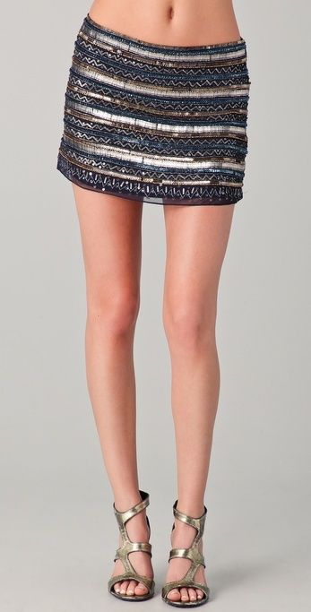 Parker Tribal Beaded Skirt thestylecure.com