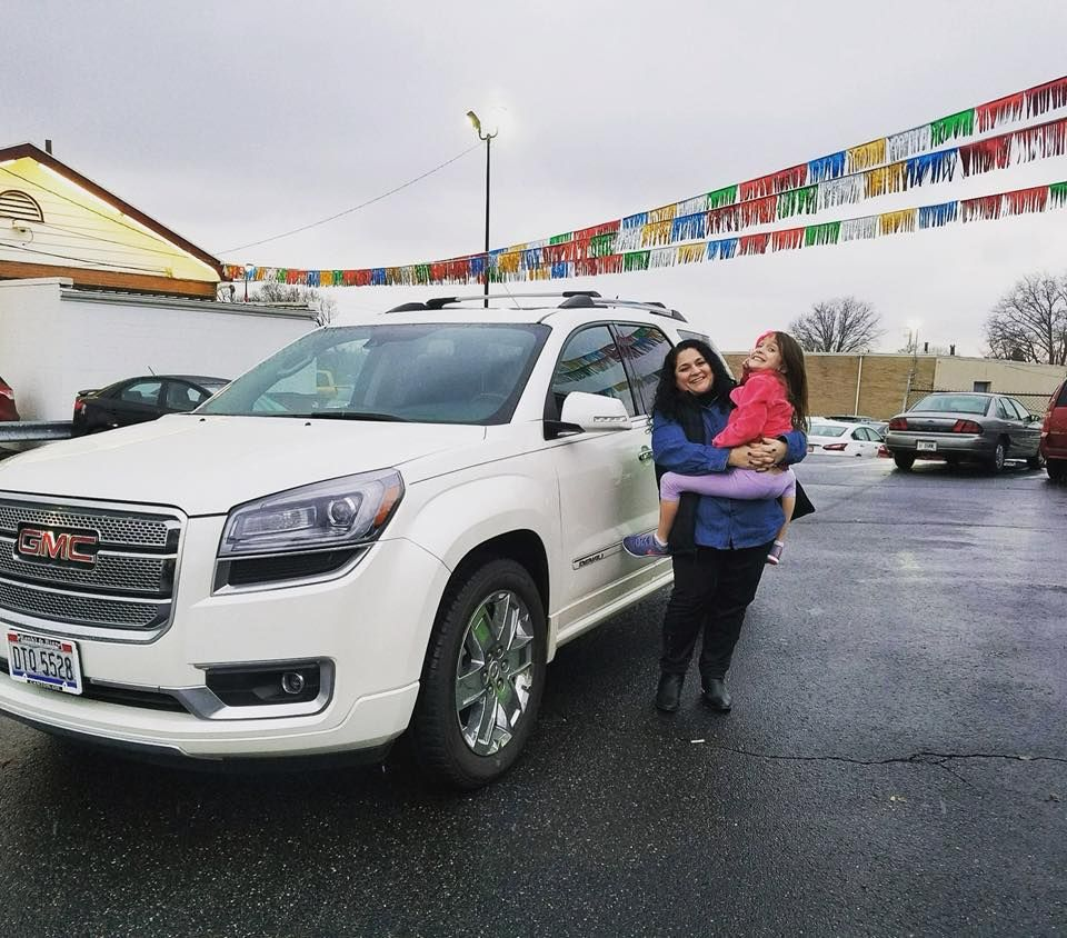 Angela Taking Delivery Of Her 2014 Gmc Acadia Denali