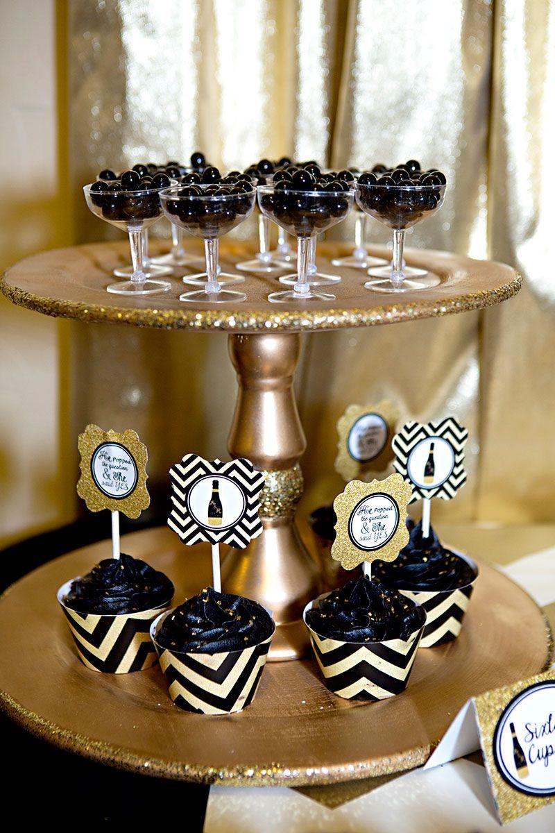Gold And Black Bridal Shower With Images Bridal Shower