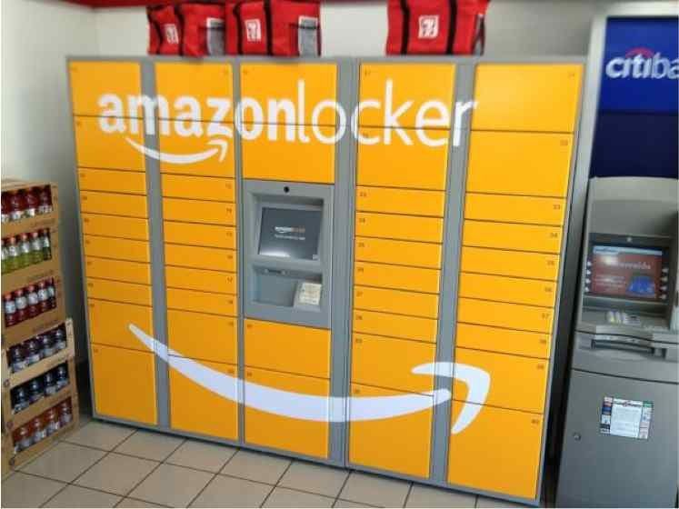 Heres a picture of amazon locker the new delivery box