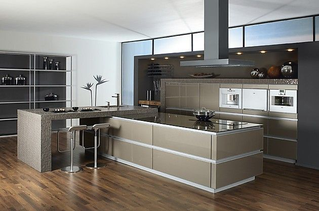 Cocina moderna en color gris   cocinas   Pinterest   Cocina moderna ...