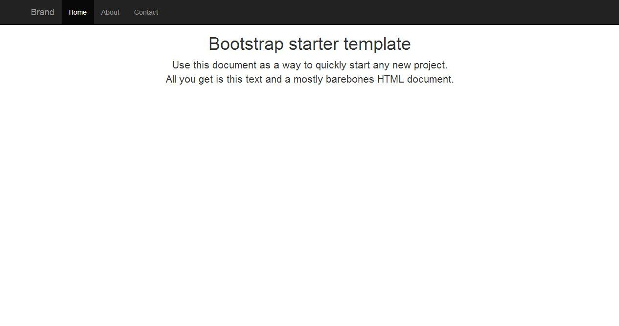 A Basic Bootstrap template with fluid width and sticky top ...