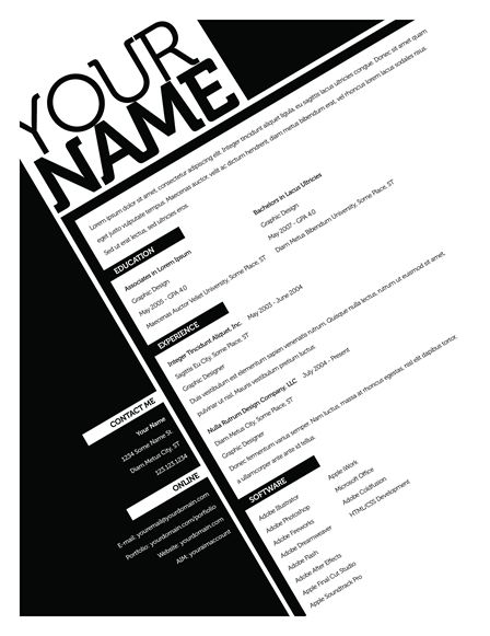 resume templates so you can stop using those crappy word templates  please  stop  now