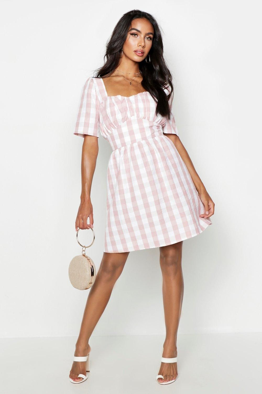ea7a1f3285 Gingham Sweetheart Skater Dress in 2019