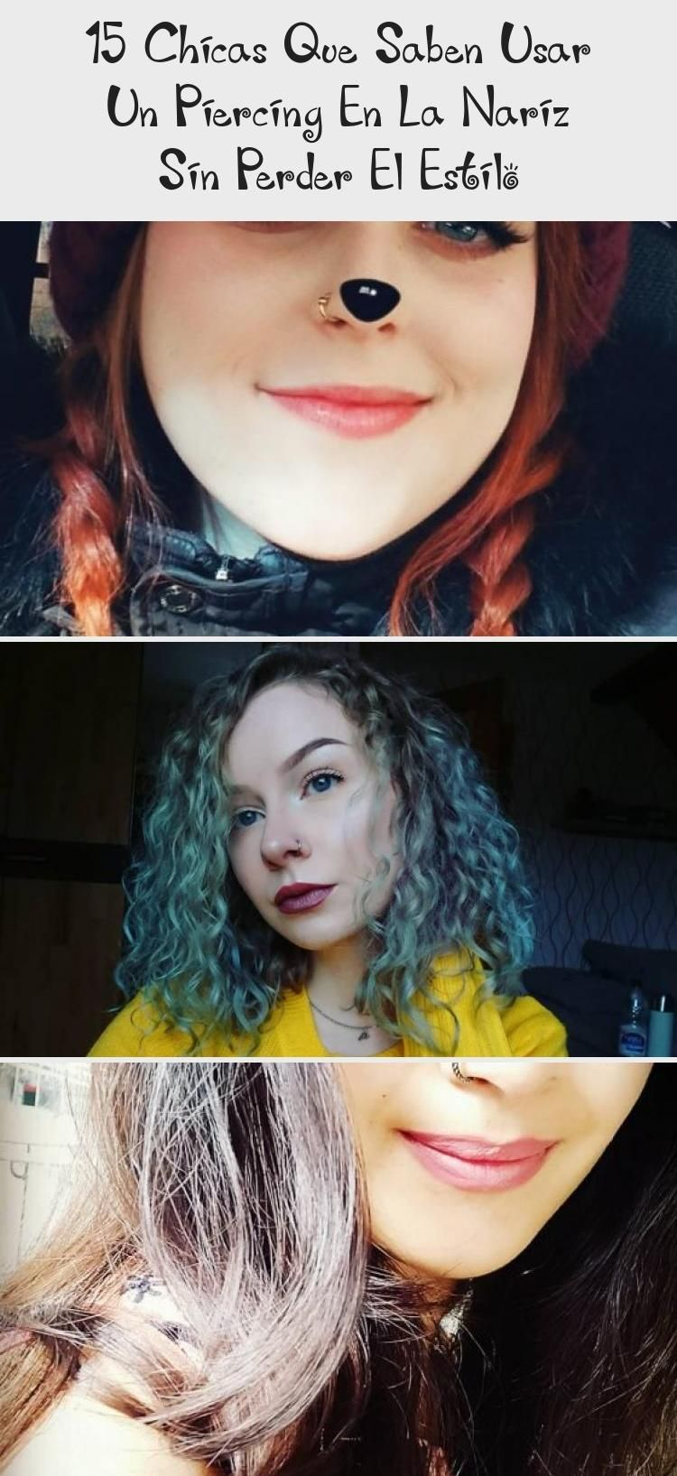 15 Girls Who Know How To Wear A Nose Piercing Without Losing Style  PIERCINGS  Girls with nose piercing