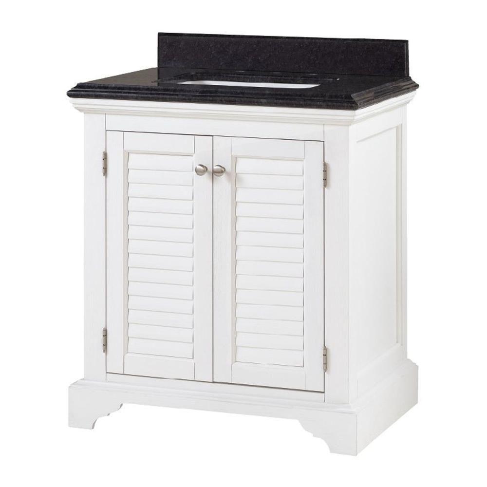 cedar cove 30 in vanity in white with granite vanity top on home depot vanity id=74397