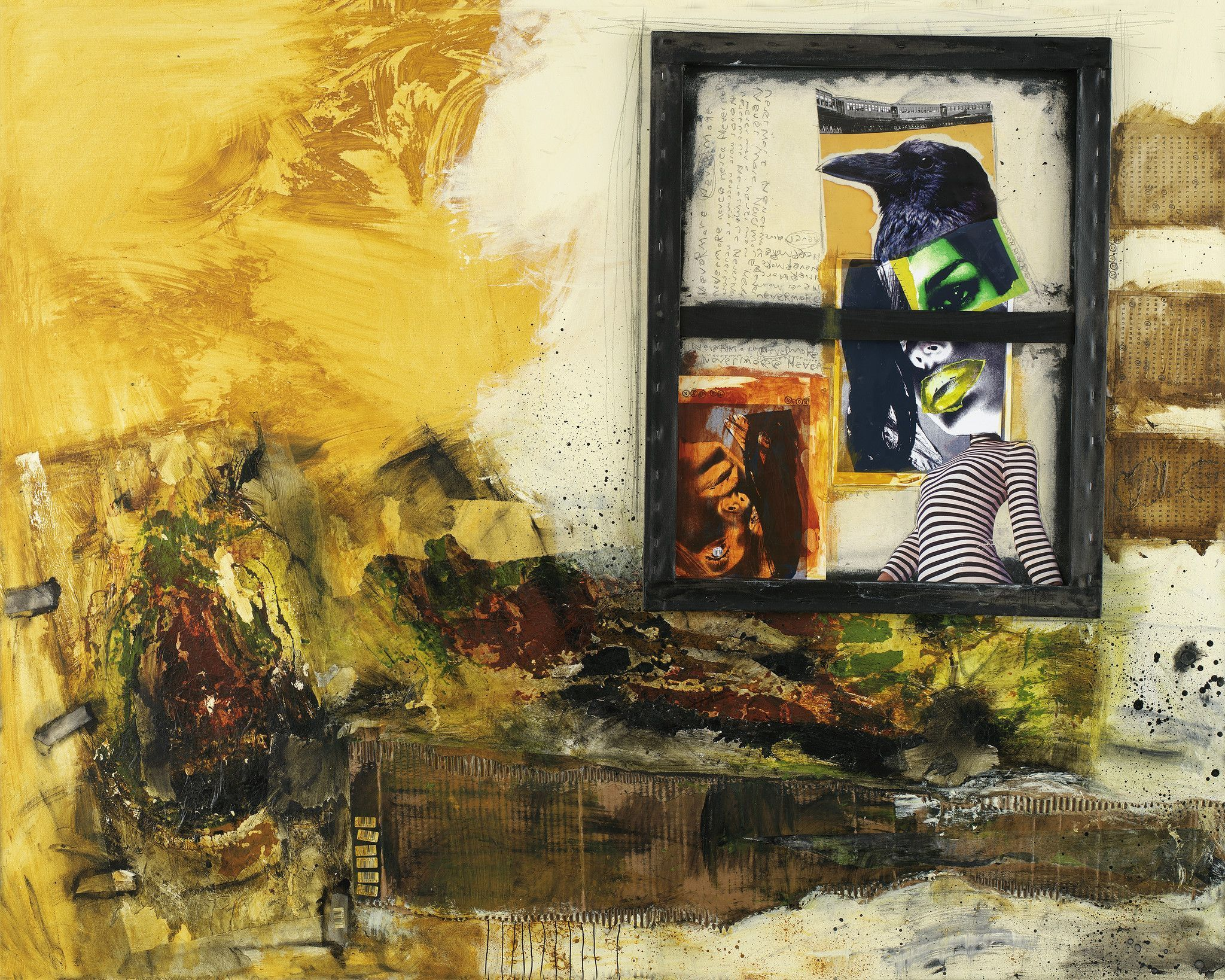 Mixed Media Art Canvas Print Of Nevermore With Images Mixed