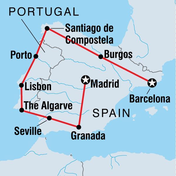 Rail Map Itinerary For Spain  Portugal  Google Search  Spain