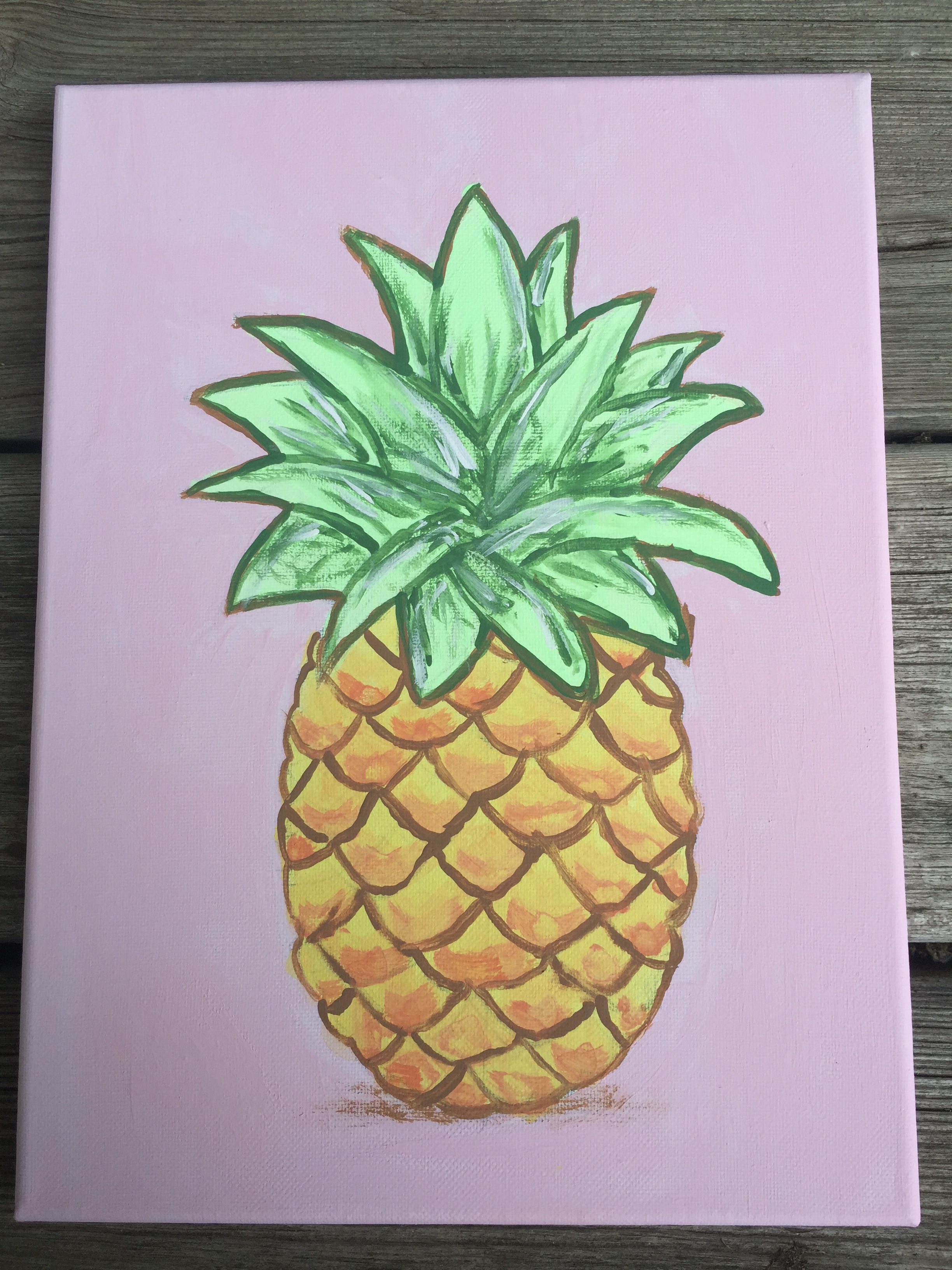 Pineapple Canvas Painting Youth Room Ideas Pinterest