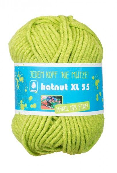 Hatnut XL 55 Wolle aus 50% Schurwolle und 50% Polyacryl