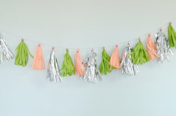 Tassel Garland Wedding Decor - thebreadandbutterfly on Etsy, $35.00