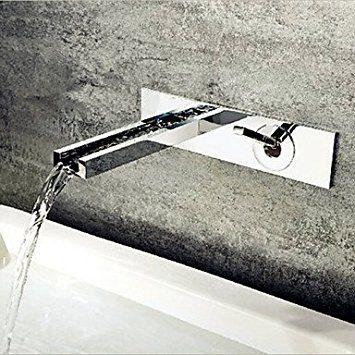 HanMei modernes Badezimmer Waschtisch Armatur Wandmontage chrom