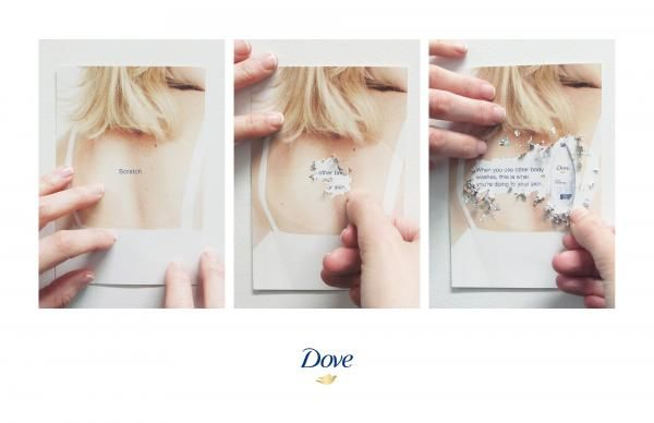 scratch card direct marketing for dove body wash by ogilvy mather