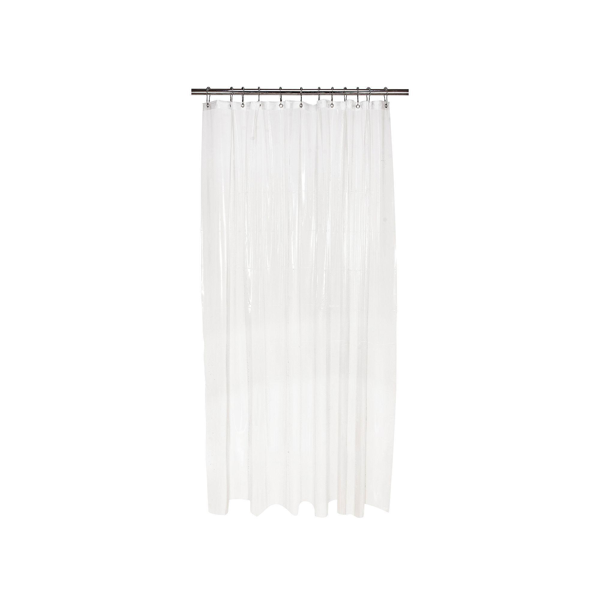 Bath Bliss Mildew Blocker Heavy Gauge Shower Curtain Liner Multicolor Mold In Bathroom Wall Molding Basement Decor