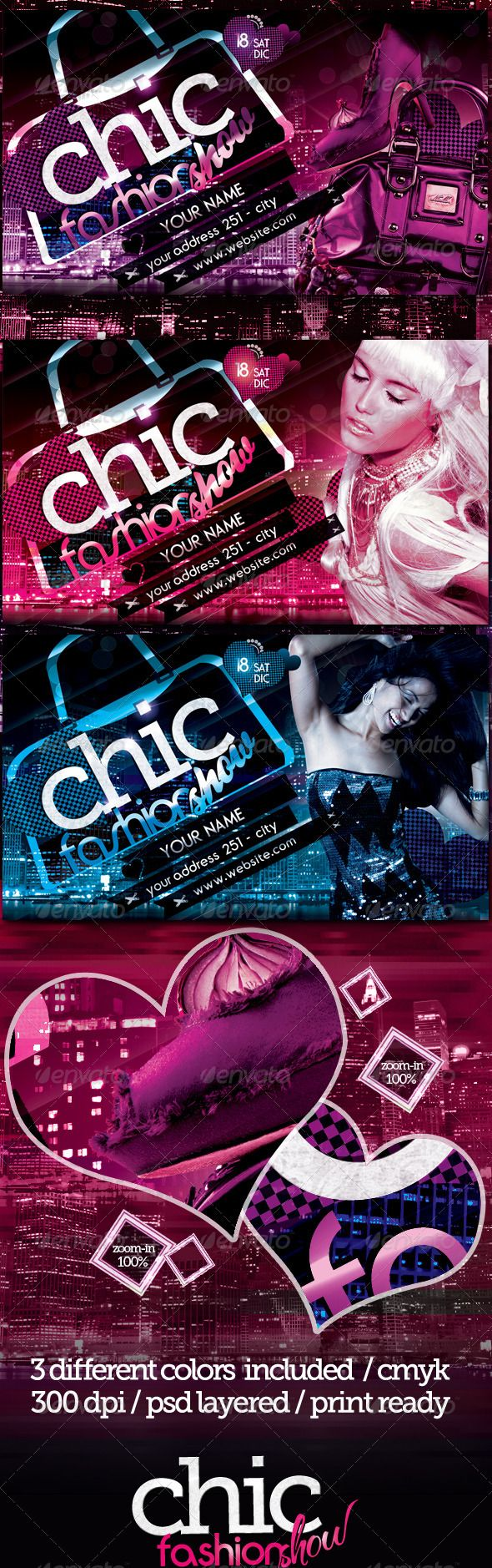 Chic Fashion Show Flyer Template This Flyer Is Perfect For - Fashion show flyer template