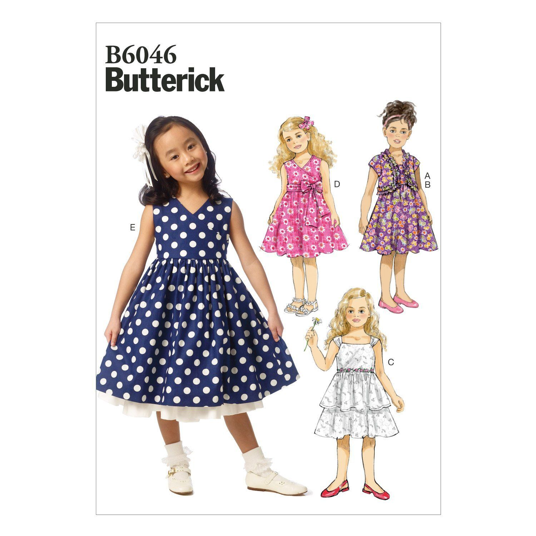 8 6046CL Patterns robe 6 Tailles 7 enfant pour Butterick JuTFK3lc1