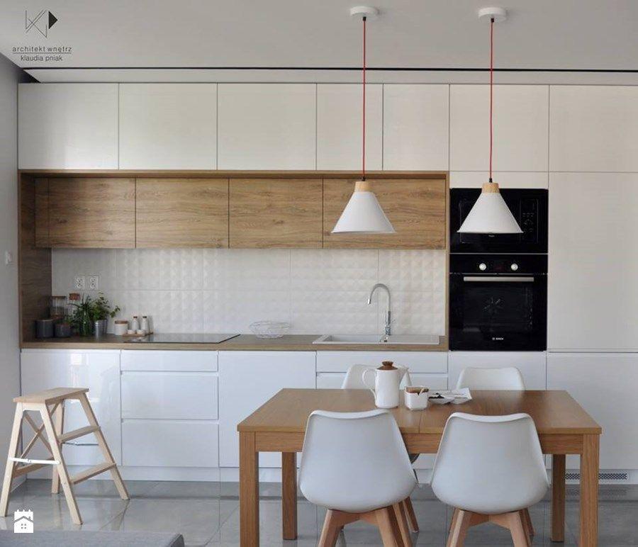 Mieszkanie Krak³w 50m2 Realizacja Jadalnia styl nowoczesny