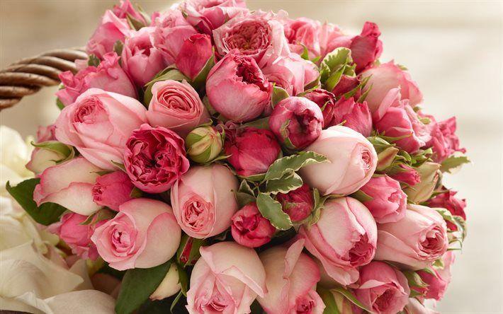 Mazzo Di Fiori Belli.Rose Rosa Bouquet Di Rose Foto Bellissimi Mazzi Di Fiori