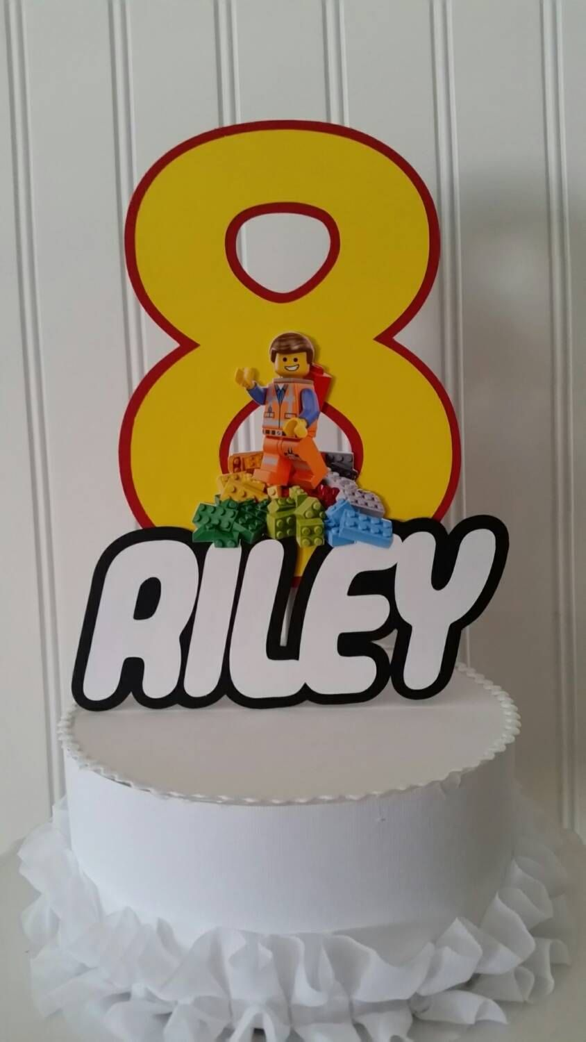Excellent Featured Etsy Products With Images Lego Cake Topper Lego Cake Funny Birthday Cards Online Elaedamsfinfo