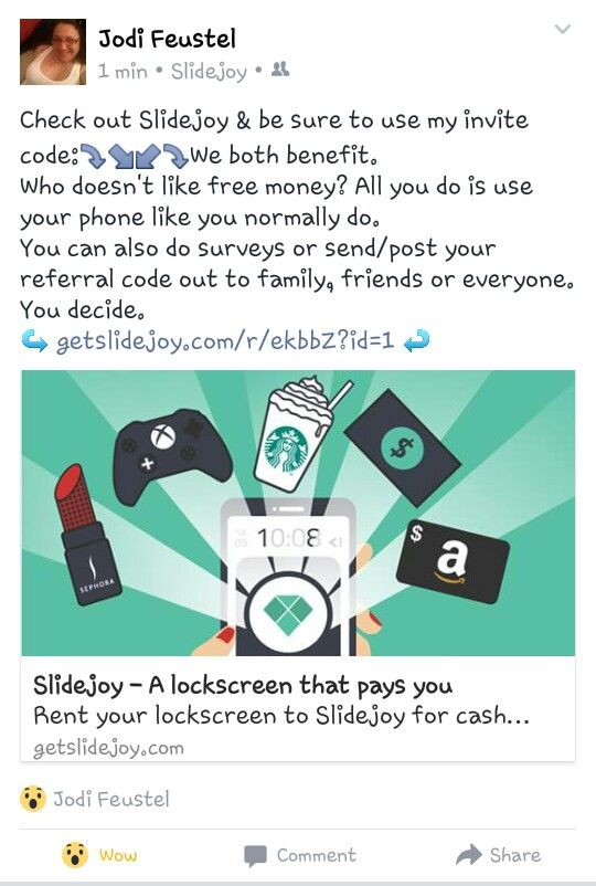 Check Out Slidejoy Make Sure To Use My Invite Code Getslidejoy Com R Ekbbz Id 1 Use Your Phone Like You Normally Do Love Is Free Free Money Picture Quotes