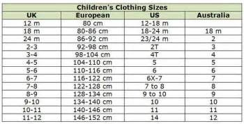 European Sizes To Us Sizes For Boys And Girls Yahoo Search Results Yahoo Image Search Results Online Kids Clothes Discount Kids Clothes Baby Clothes Sizes