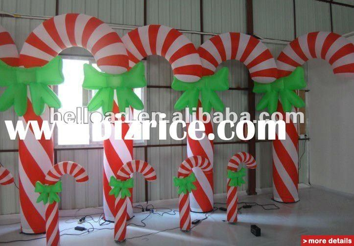 plastic candy cane inflatable christmas decorations / China - christmas decorations sale