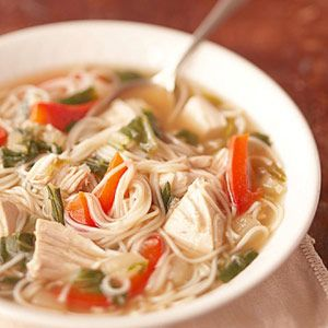 This Asian inspired chicken soup recipe has soy, five-spice