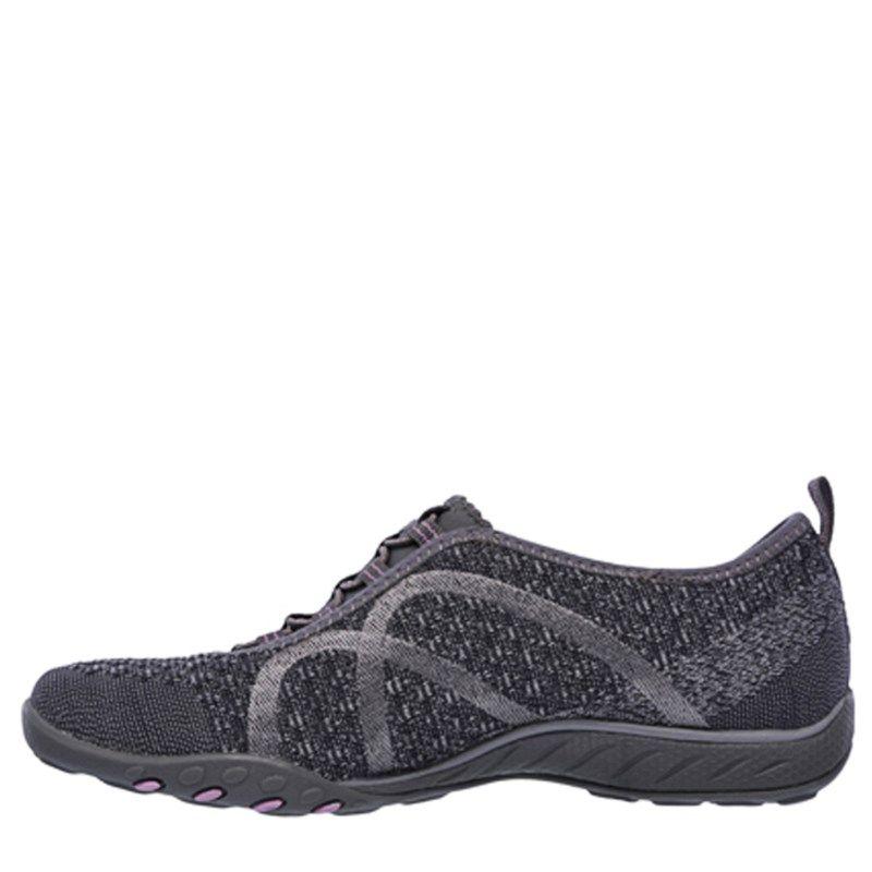 Skechers Women s Breathe Easy Fortune Knit Memory Foam Slip On Shoes  (Charcoal Pink) - 11.0 M df029129b