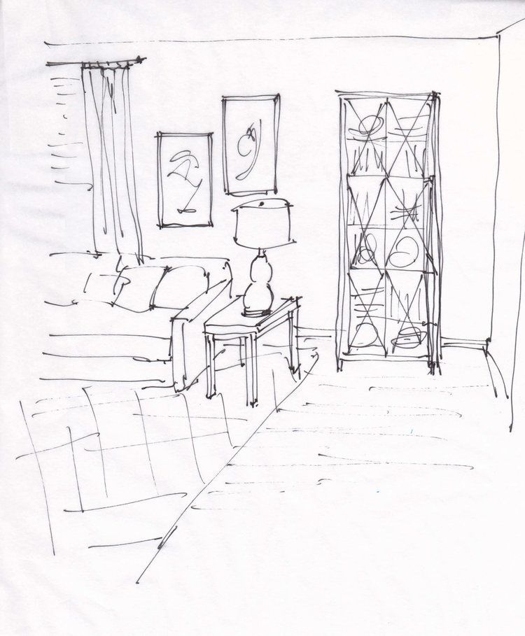 Boho Yarn Wall Decor                                       Design Sketch of living room for an email design consultation | Wall decor and furnishings suggested to create a pleasing visual in this room. Carla Aston, Designer #designsketch #livingroomideas #walldecor