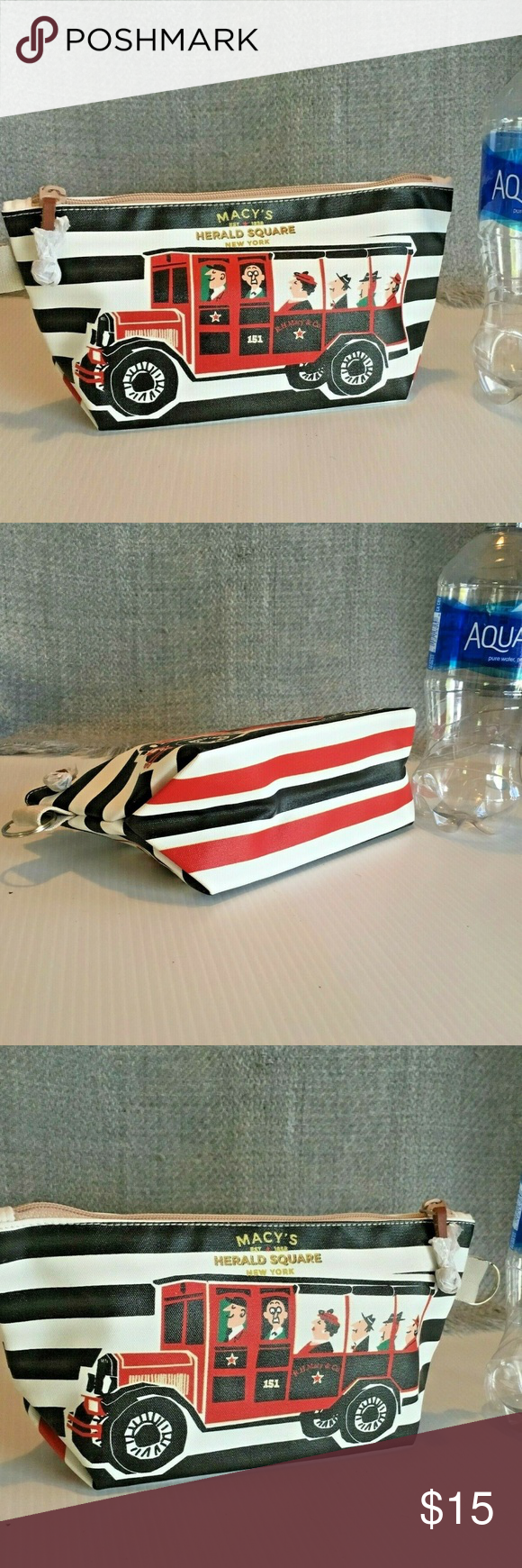 Macy's Herald Square NY Clutch Cosmetic Pouch Macy's