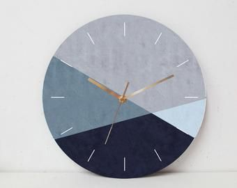 Concrete And Wood Wire Tailed Swallow Wall Clock Modern Etsy In 2020 Large Wall Clock Modern Wall Clock Modern Wall Clock