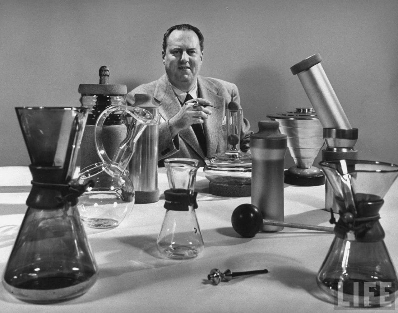 Peter Schlumbolm who invented the Chemex coffee maker in