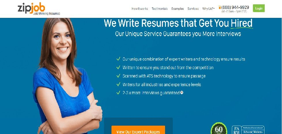 zipjob is a company that provides resume writing services and helps you land more interviews
