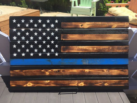 Thin Blue Line American Flag By Jlolzhobbies On Etsy For