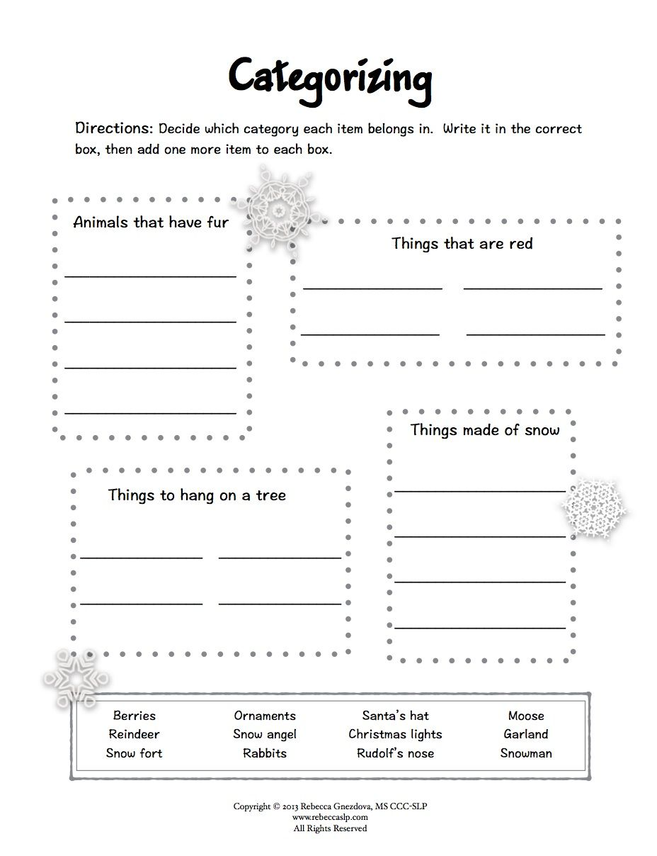 picture regarding Printable Aphasia Worksheets named Freebie* Expressive Language Worksheets Speech-Language