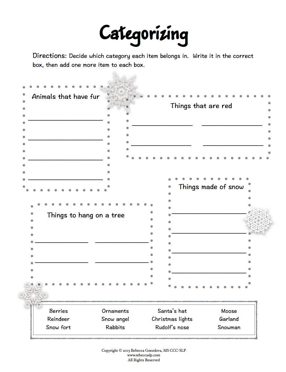 Freebie Expressive Language Worksheets