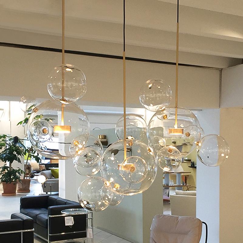 Artistic Glass Ball Chandelier Chandelier in living room