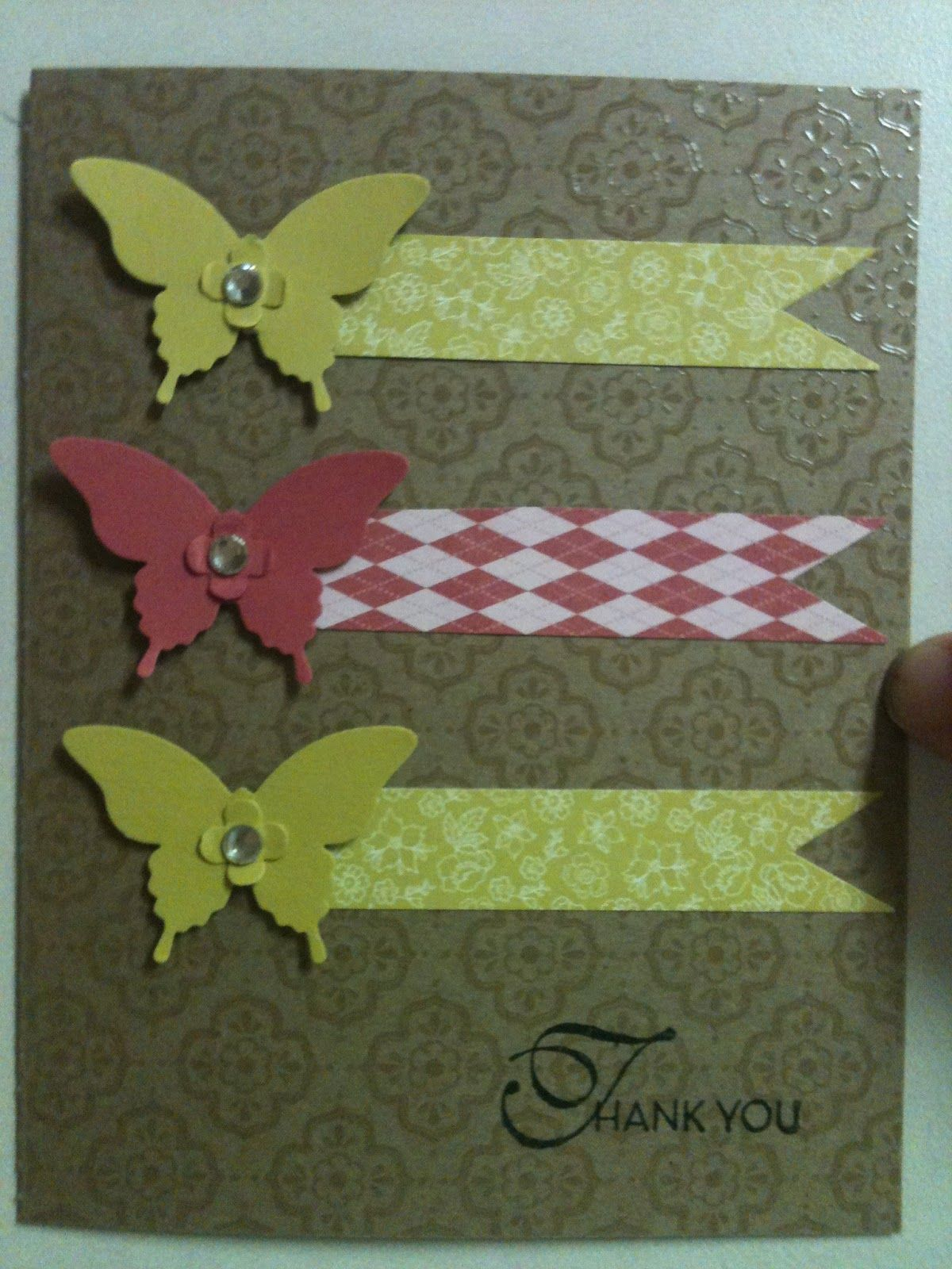 Stampin' in the Sun!: CASE'ing a Thank You and Blog Candy