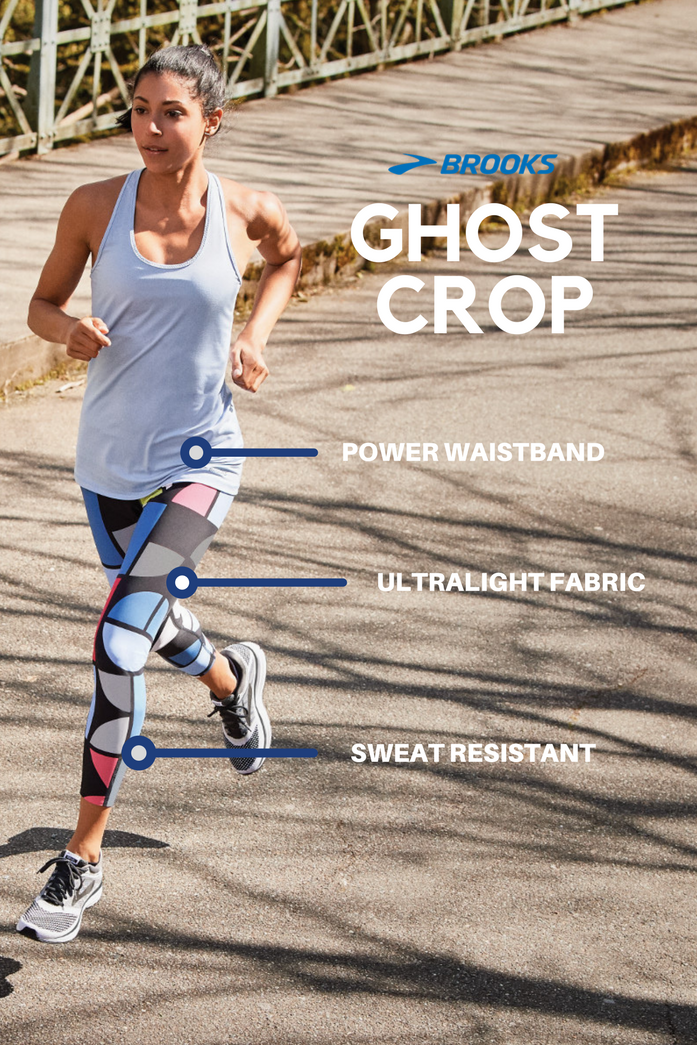 637ded42c0d2c0 Brooks Running | Ghost Crop Tights | Women's Pull on these lightweight,  versatile tights for an instant style statement. Combining great looks with  ...
