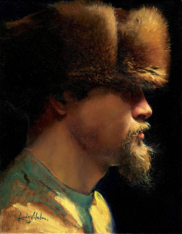 Best Portrait $12,000 Purchase Prize and $1,000 Best Portrait Luiz Vilela Fur - Portrait of Donald Becker Oil on Linen 11 x 14 inches