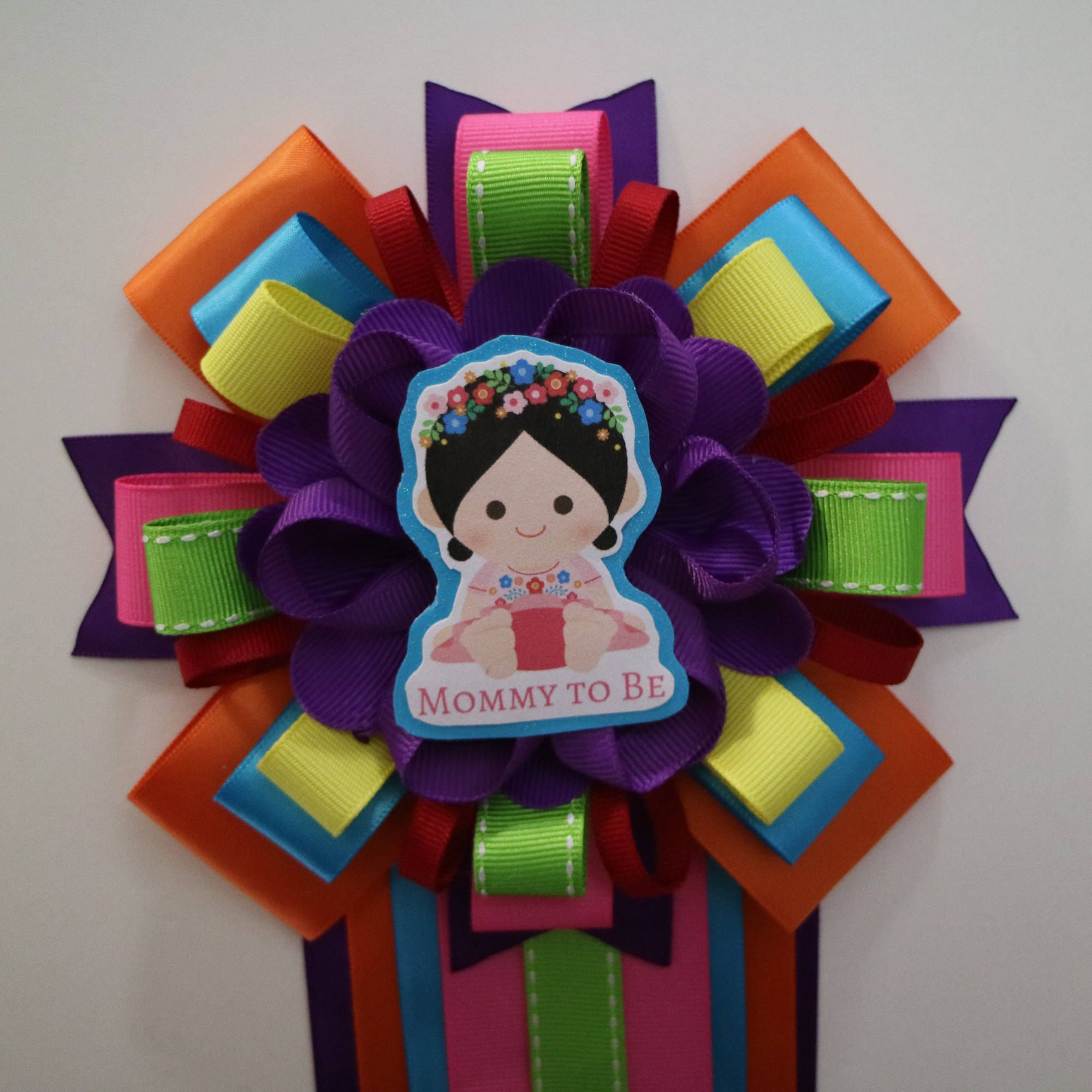 Fiesta Baby Girl Themed Mommy To Be Baby Shower Corsage By