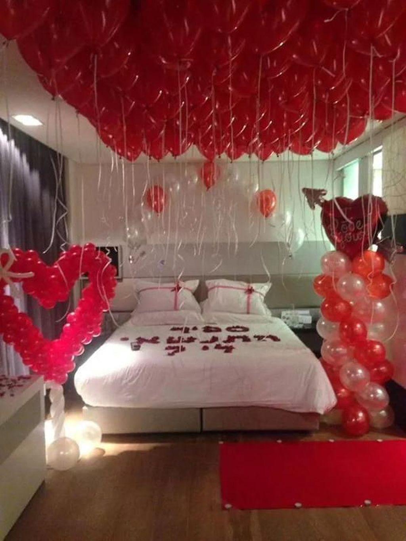 Awesome 50 Stunning Diy Romantic Valentine S Day Decorations Ideas Valentines Bedroom Valentine Bedroom Decor Romantic Bedroom Decor Diy romantic bedroom ideas
